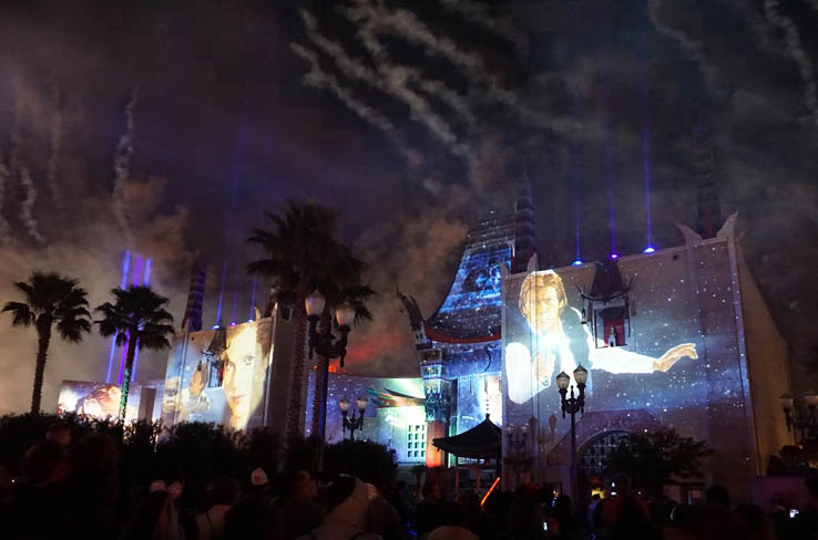 View of Grauman's Chinese Theatre during Star Wars: A Galactic Spectacular.