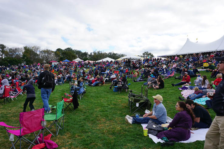 Crowd enjoying the music, Central Florida Scottish Highland Games.