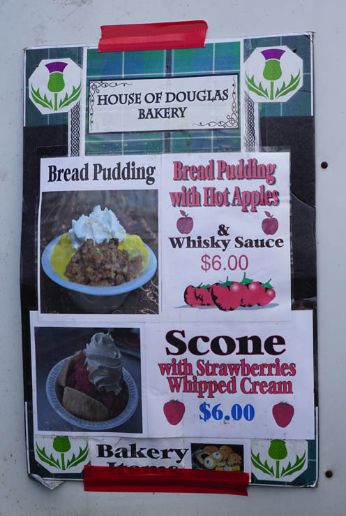 Yummy baked goods are available at various vendors, Central Florida Scottish Highland Games.