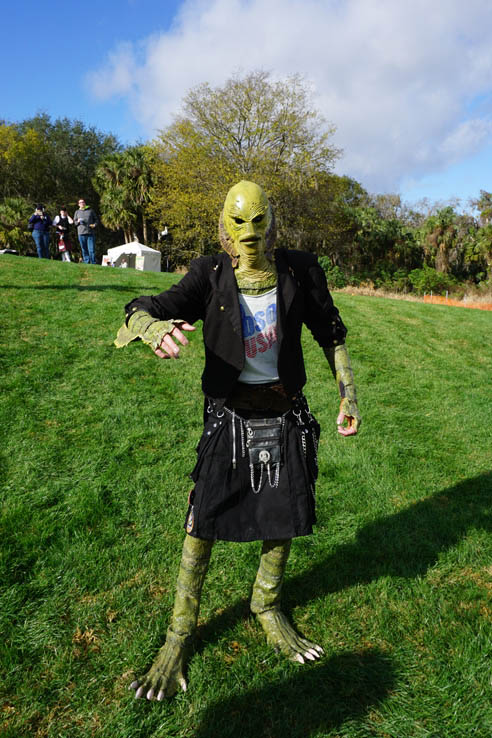 The Kilted Creature, man in mask and kilt, Central Florida Scottish Highland Games.