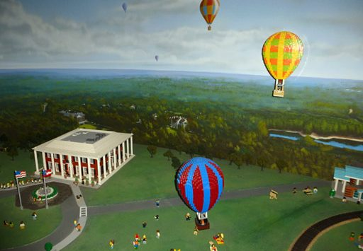 LEGO hot air balloons