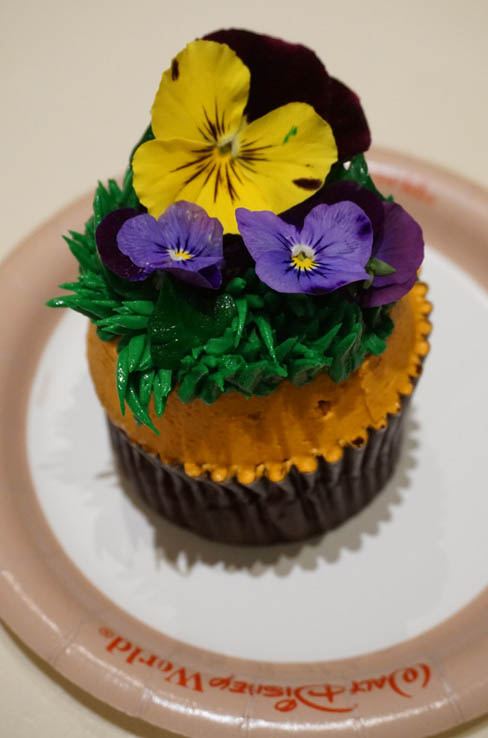 Peanut Butter and Jelly Flower Pot Cupcake from Sunshine Seasons in EPCOT, Walt Disney World