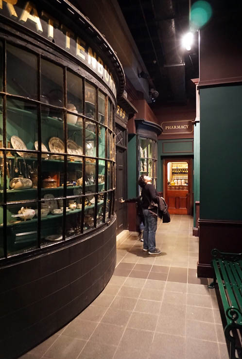 Victorian shopping street inside Museum of London