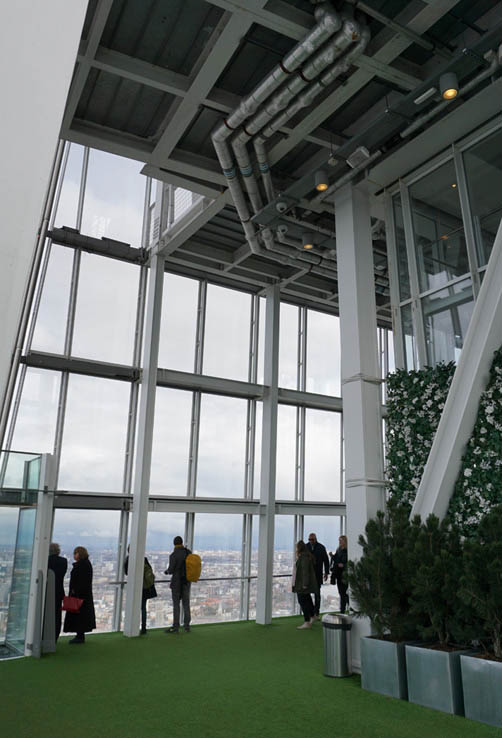 Viewing gallery inside The Shard, London