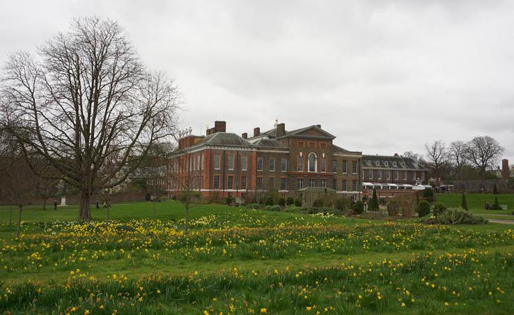 Kensington Palace as seen from Kensington Gardens, London