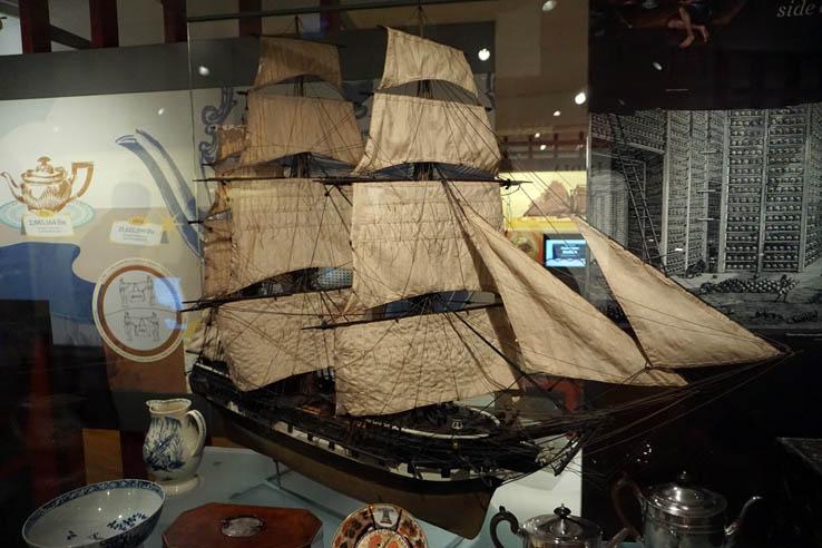 Artifacts inside National Maritime Museum, Greenwich, England, UK.