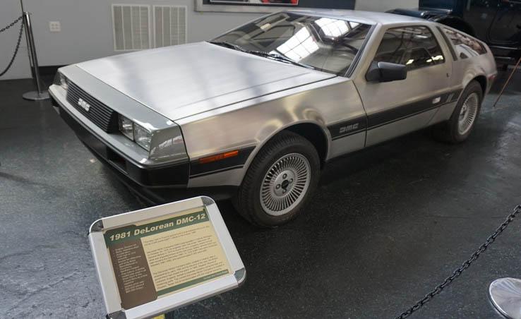 DeLorean located at the Virginia Museum of Transportation in Roanoke, Virginia