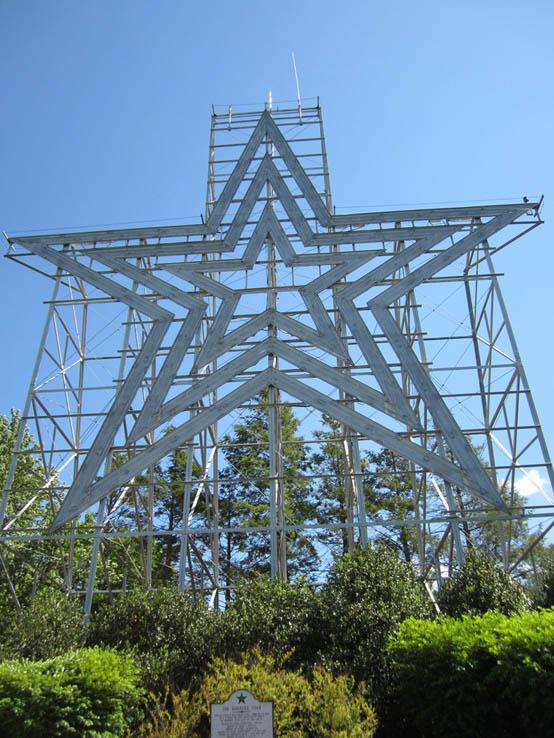 Roanoke Star, on top of Mill Mountain in Roanoke, Virginia