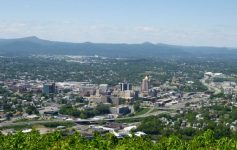 View from Mill Mountain in Roanoke, Virginia.