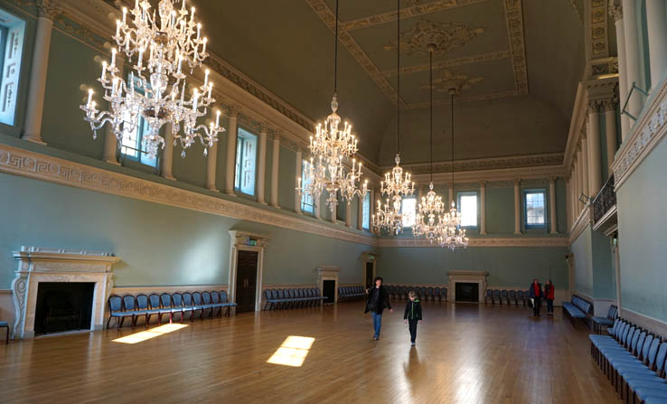 The Ballroom at The Assembly Rooms, Bath, England, United Kingdom.