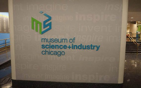 Museum of Science and Industry sign, Chicago.