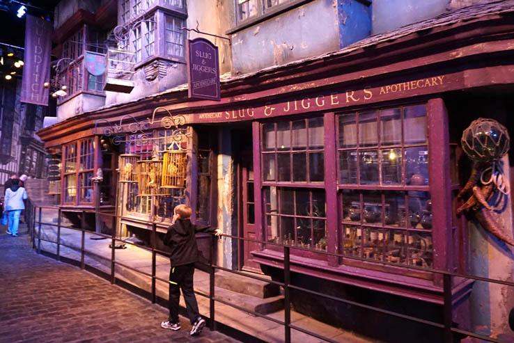 Diagon Alley at Harry Potter Studio Tour, near London, UK