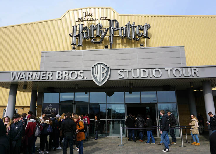 Entrance to Warner Bros. Studio Tour: The Making of Harry Potter, just north of London, United Kingdom