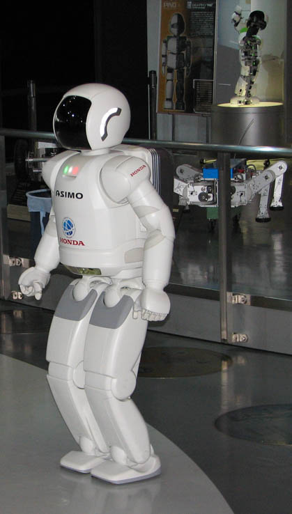 Asimo the humanoid robot at Miraikan, the National Museum of Emerging Science and Innovation in Odaiba, Tokyo, Japan