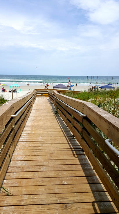 Beach access - walkway to the beach at Ponce Inlet, Florida